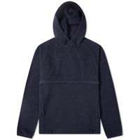 Les Basics Le Ribless Popover Hoody Blue
