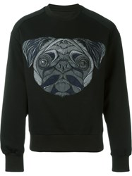 Juun.J Embroidered Dog Sweatshirt Black