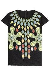 Peter Pilotto Embroidered Wool Top Multicolor