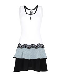 Tricot Chic Short Dresses White