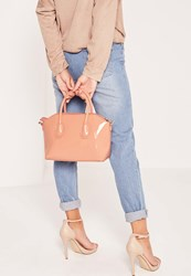 Missguided Mini Winged Tote Bag Blush Pink Pink