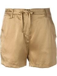 Ann Demeulemeester Blanche Satin Shorts Nude And Neutrals