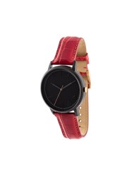 Forty Five Ten X Fossil Black Dial Watch Red