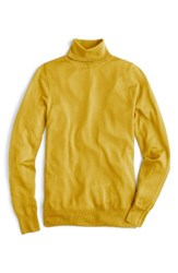 J.Crew Women's Featherweight Cashmere Turtleneck Sun Drenched Gold