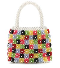Shrimps Avery Floral Beaded Tote Multicoloured