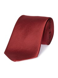 Chester Barrie Mogador Plain Tie Wine