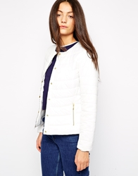 B.Young Padded Cropped Jacket Offwhite