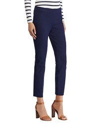 Ralph Lauren Keslina Stretch Twill Skinny Crop Trousers Navy