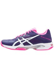 Asics Gelsolution Speed 3 Clay Outdoor Tennis Shoes Parachute Purple White Hot Pink