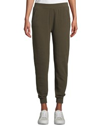 Atm Anthony Thomas Melillo Slim Cuffed Pull On Terry Sweatpants Green