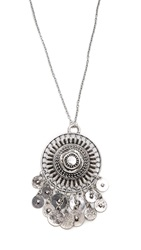 Jules Smith Designs Medallion And Coin Necklace Silver