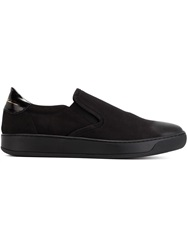 Bruno Bordese Leather Slip On Sneakers Black