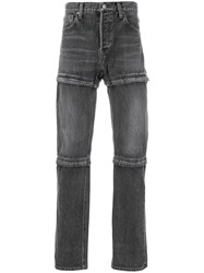 Balenciaga Bal Zipped Jeans Grey