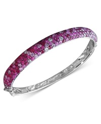 Effy Collection Balissima By Effy Pink Sapphire Bangle 10 1 5 Ct. T.W. In Sterling Silver