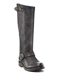 Frye Veronica Slouch Tall Boots With Extended Calf Black