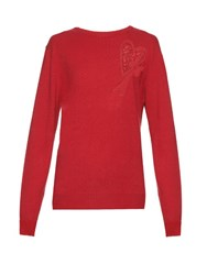 Raey Big Heart Valentines Cashmere Sweater Red