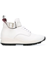 Opening Ceremony Buckle Detail Hi Top Sneakers White