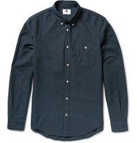 Nn.07 New Derek Cotton Oxford Shirt Blue
