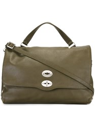 Zanellato Large 'Postina' Satchel Green
