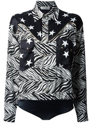 Faith Connexion Star And Zebra Print Shirt Black