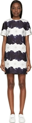 Mother Of Pearl Navy And White Floral Stripe Becca Dress