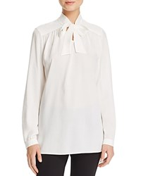 Basler Tie Neck Blouse Off White