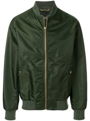 Mr And Mrs Italy Oversized Bomber Jacket Green