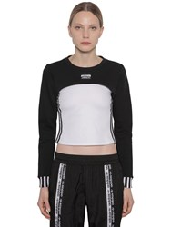 Adidas Cropped Cotton Shrug Black