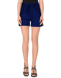 Odi Et Amo Trousers Shorts Women Dark Blue