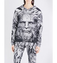 Christopher Kane Beauty And The Beast Cotton Hoody Black White