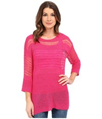 Miraclebody Jeans Drew Dropneedle Sweater W Body Shaping Inner Shell Fuchsia Women's Sweater Pink