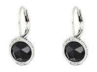 The Sak Stone Pave Drop Earrings Black Silver Earring