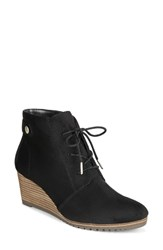Dr. Scholl's Conquer Wedge Bootie Black Fabric