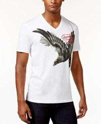 Armani Exchange Men's Graphic Print T Shirt Solid White