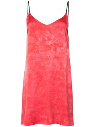 Amiri Tie Dye Slip Dress Pink And Purple