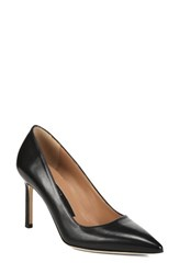 Via Spiga Women's Nikole Pointy Toe Pump Black Leather