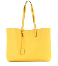Saint Laurent Leather Tote Yellow