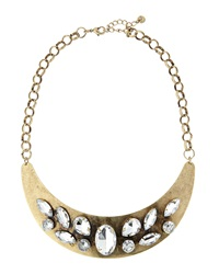 Lydell Nyc Brass Stone Collar Necklace