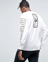 Aape By A Bathing Ape Long Sleeve T Shirt With Back Print White