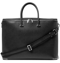 Valextra Pebble Grain Leather Holdall Black