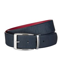 J. Lindeberg J Asher Leather Belt Unisex Navy