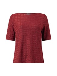 Eastex Shimmer Squares Top Red