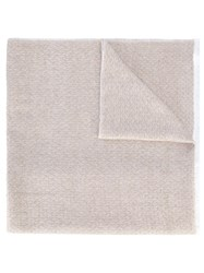 Agnona Plain Knitted Scarf Nude Neutrals