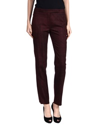 Carven Casual Pants Maroon