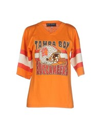 Bad Spirit Topwear Sweatshirts Women Orange