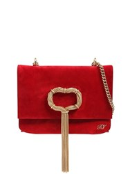 Roger Vivier Chain Buckle Evening Bag Red
