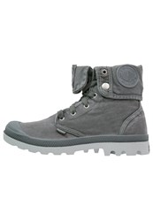 Palladium Baggy Laceup Boots Turbulence High Rise Dark Gray