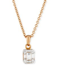 Zydo Mosaic Diamond Pendant Necklace In 18K Rose Gold