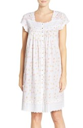 Women's Eileen West Short Sleeve Print Cotton Nightgown