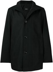 Hugo Boss Stand Up Collar Coat Black